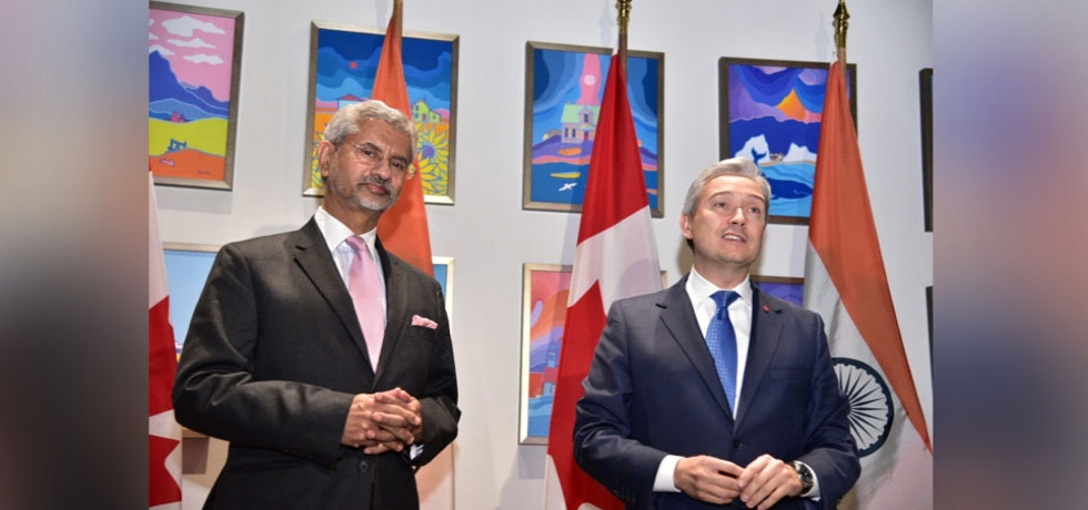 EAM Dr. Jaishankar meets Minister of Foreign Affairs of Canada Mr. Franois-Philippe Champagne during his visit in December 2019.